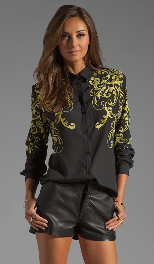 Neon Filigree Blouse