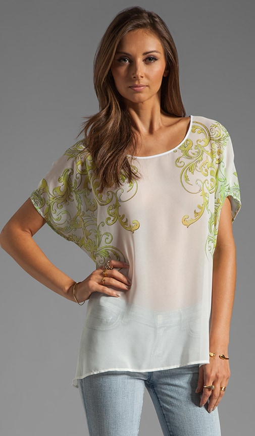 Neon Filigree Short Sleeve Top