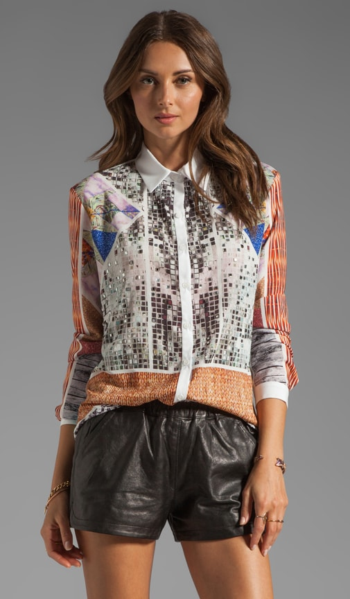 Roadside Quilt Studded Blouse