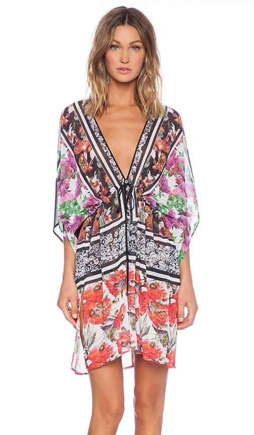 Floral Scarf Print Cover Up