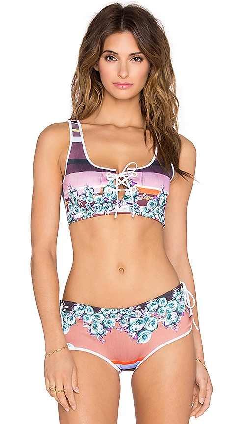 Clover Canyon Seaside Horizon Bikini Top in Multi
