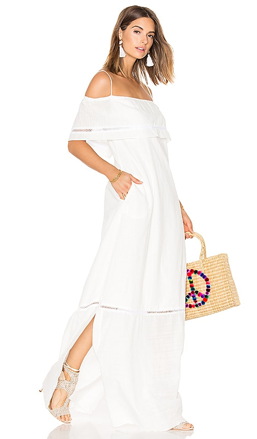 CLUBE BOSSA Sert Long Dress in White