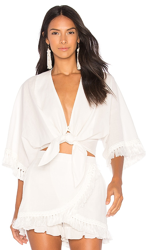 CLUBE BOSSA Cullen Blouse in White