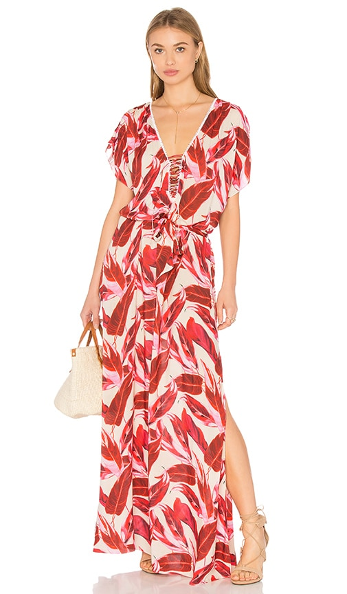 CLUBE BOSSA Manville Maxi Dress in Calathea Rouge