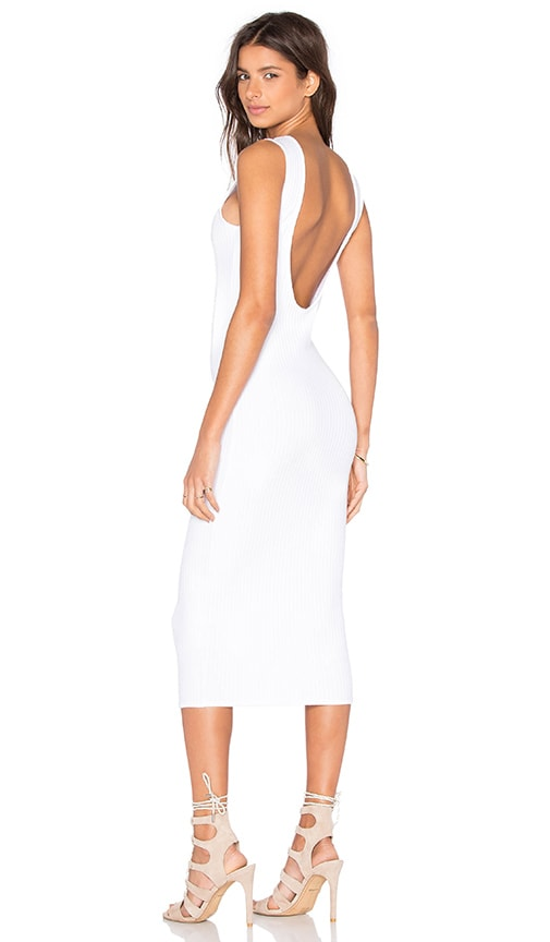Clayton Kendrick Wide Rib Dress in White