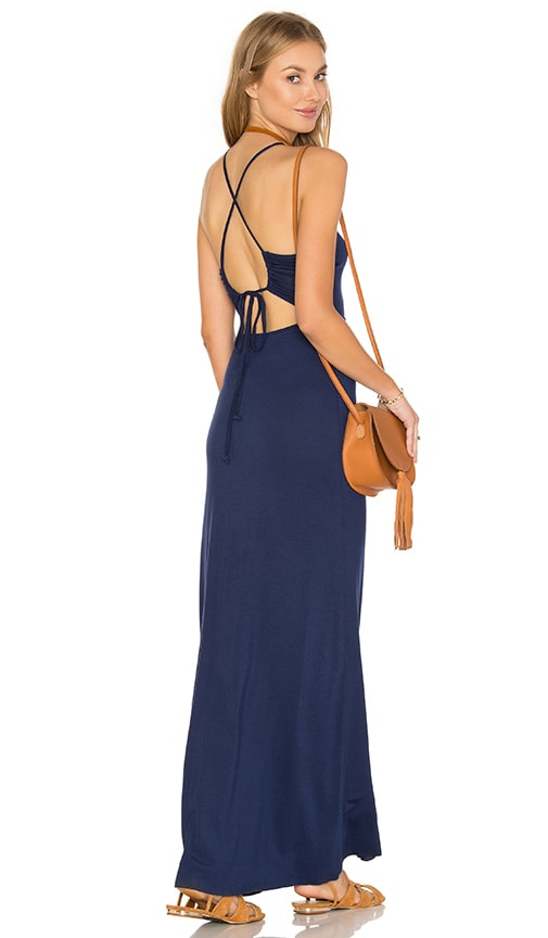 Clayton Dionne Maxi Dress in Navy