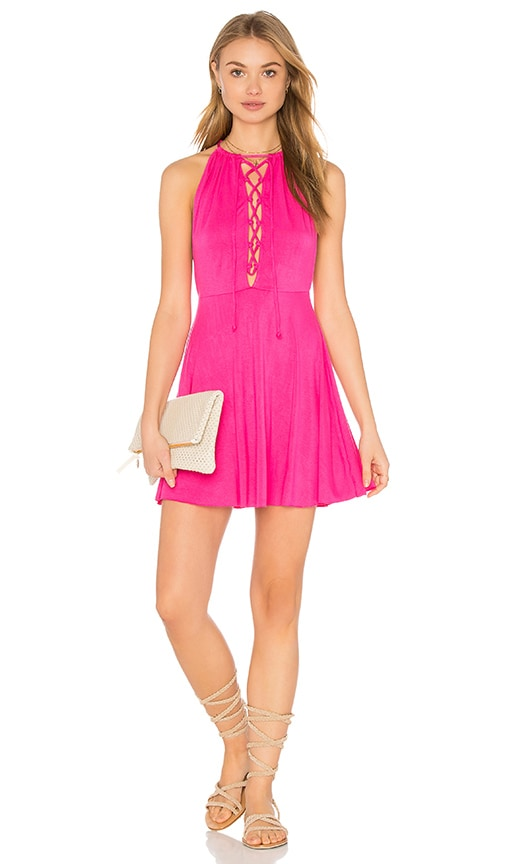 Clayton Mazie Dress in Fuchsia