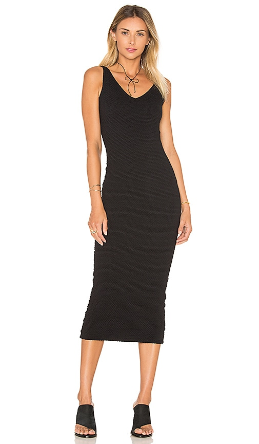 Clayton Bubble Knit Angeline Dress in Black
