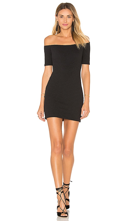 Clayton Bev Dress in Black