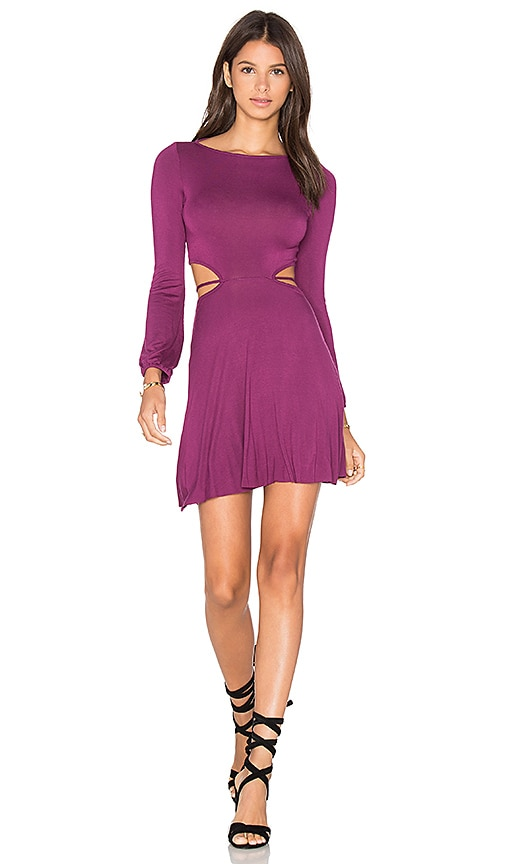Clayton Charlie Dress in Wine