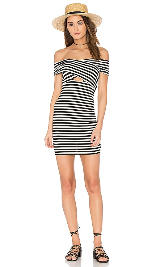 Clayton Mindy Dress in Black & White