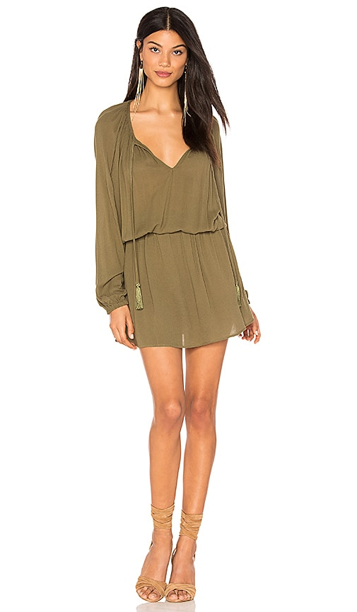 Clayton Ezma Crepe Dress in Green