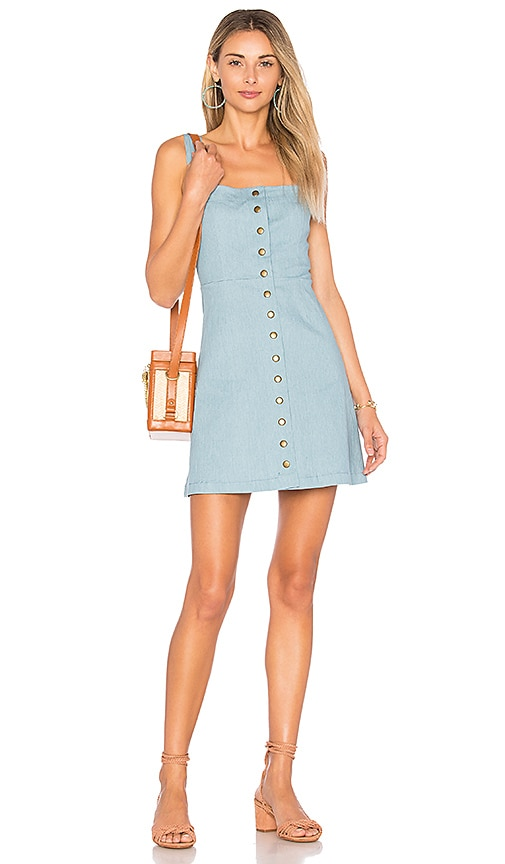 Clayton Denim Angie Dress in Blue
