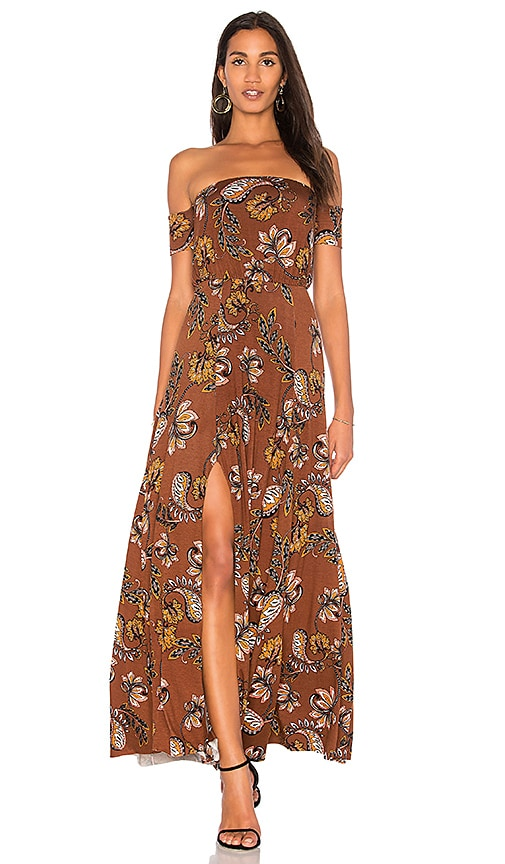 Clayton Margaret Dress in Brown