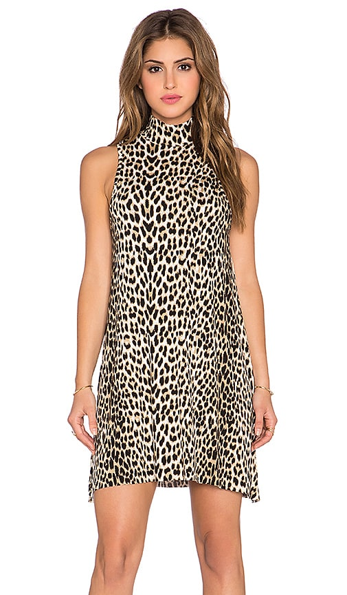 Clayton Amanda Mini Dress in Cheetah