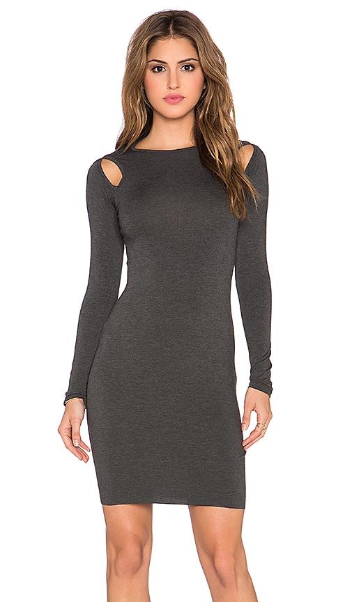 Clayton Stephanie Mini Dress in Charcoal