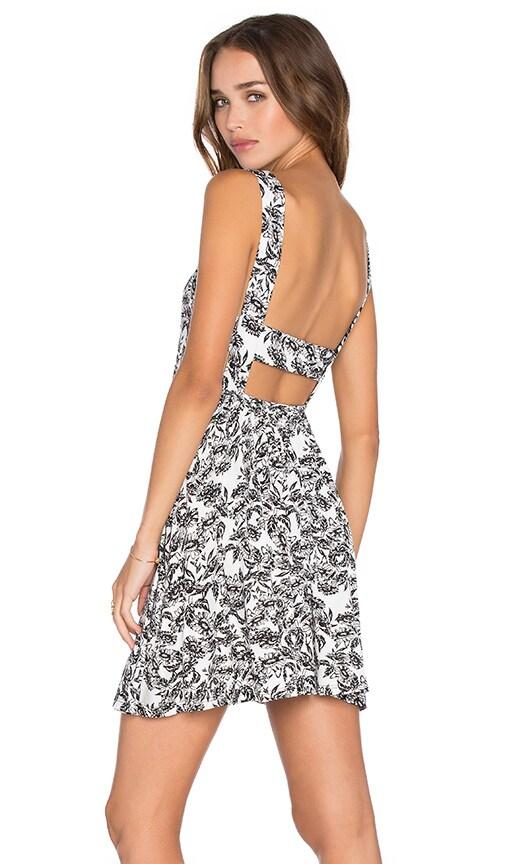 Clayton Tori Dress in Black & White
