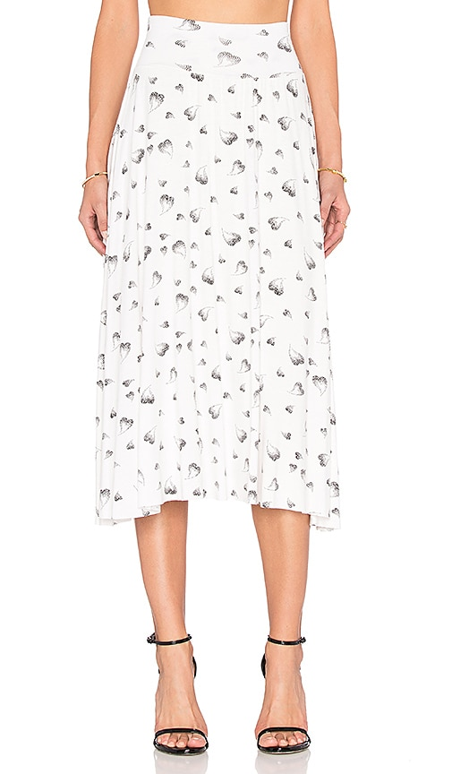 Clayton Cameron Skirt in White