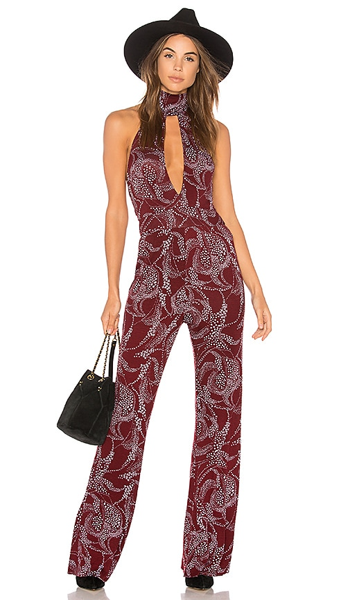 Clayton Clement Jumpsuit in Red