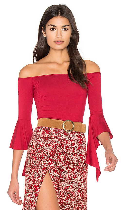 Clayton Clarity Top in Red
