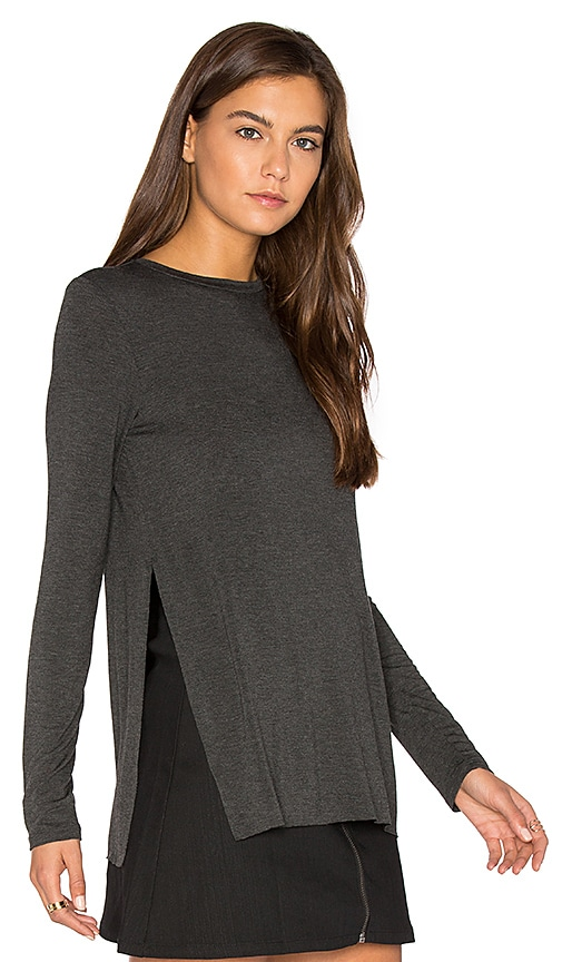 Clayton Tim Top in Charcoal