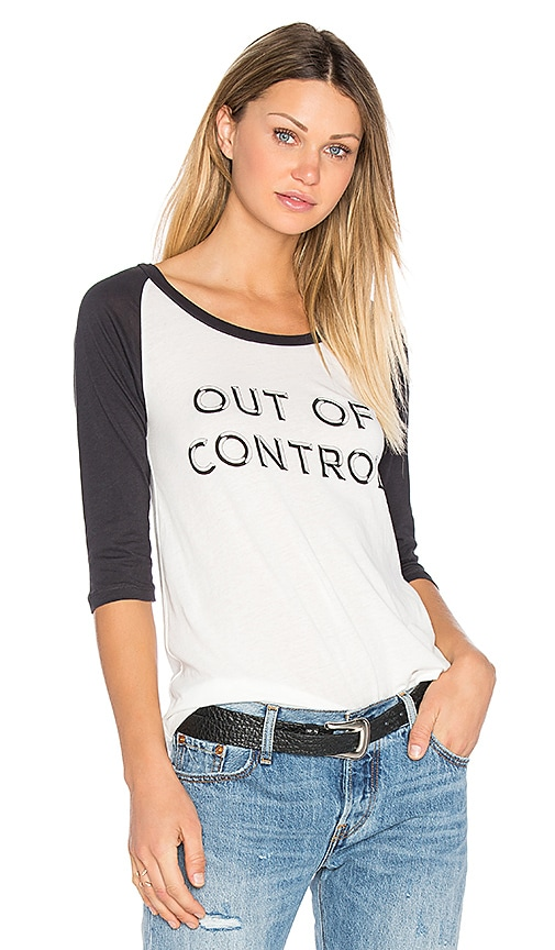 Out Of Control Baseball Tee