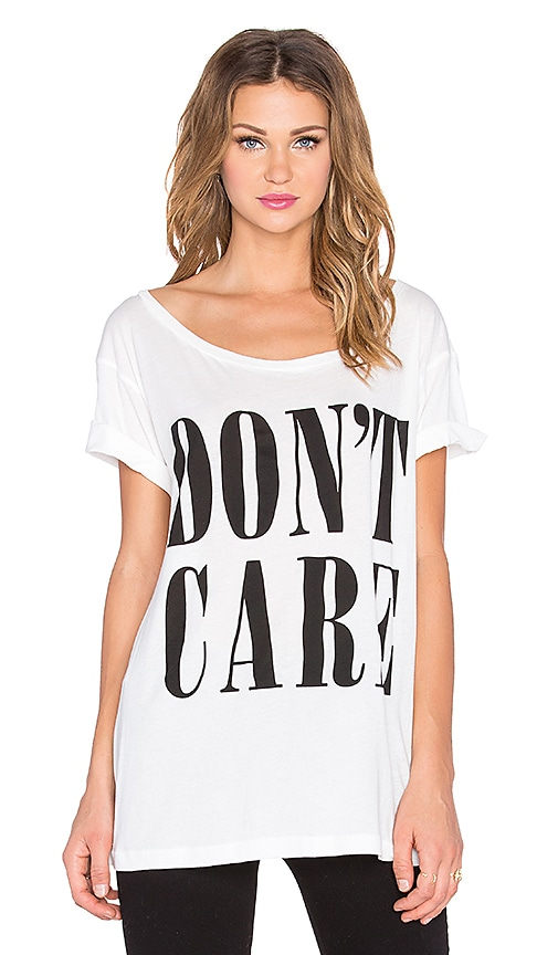 Clayton Don't Care Wide Neck Tee in White