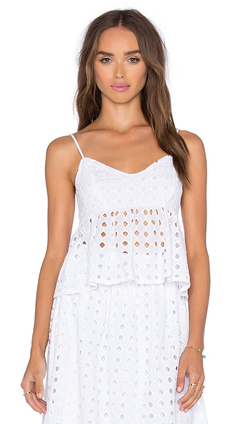 Clayton Renzo Eyelet Top in Eyelet