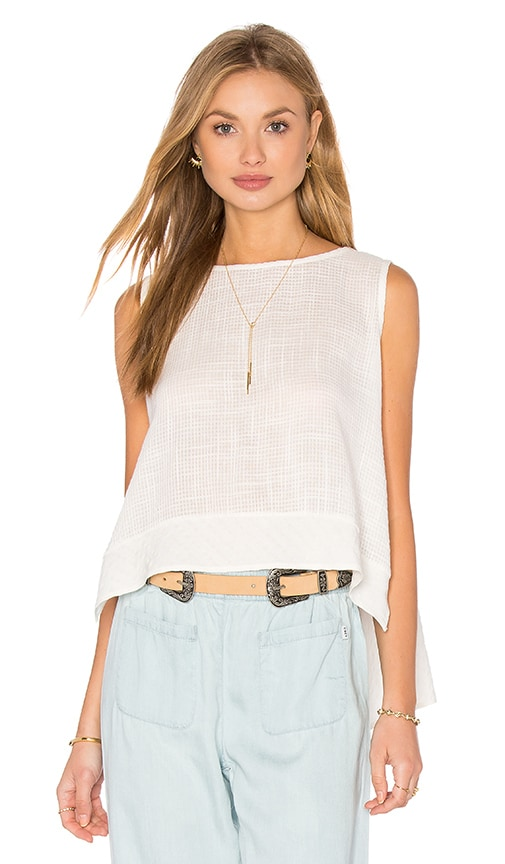Clayton Linen Beacon Tank in White