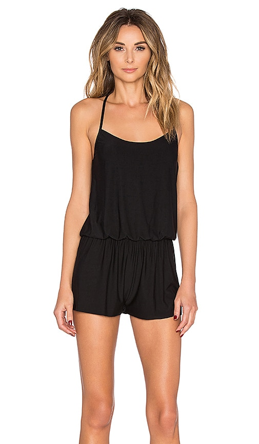 Commando Butter T-Back Romper in Black