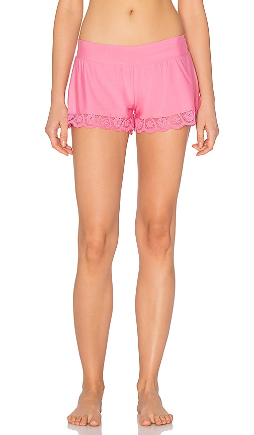 Commando Butter Lace Tap Short in Petal Pink