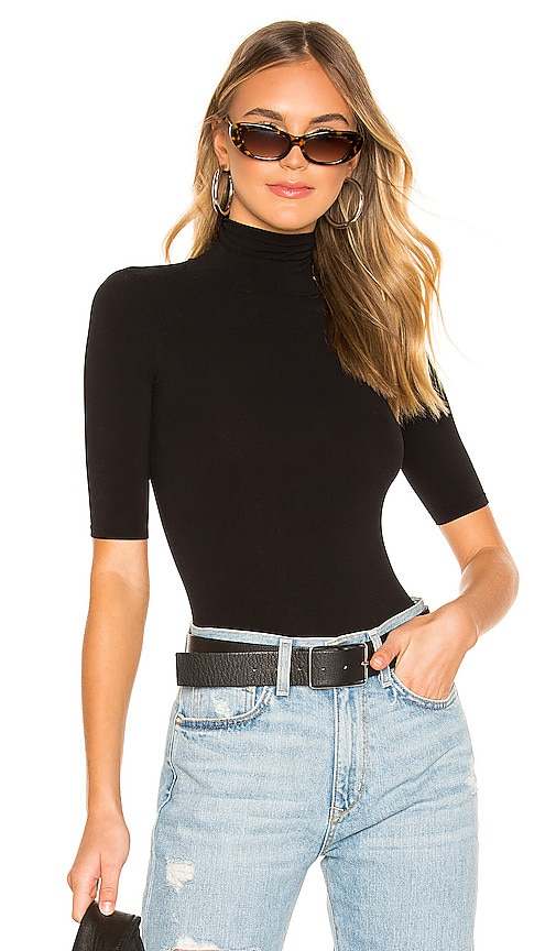 Ballet Shortsleeve Turtleneck Bodysuit