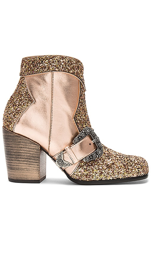 Coach 1941 Western Buckle Bootie in Metallic Copper