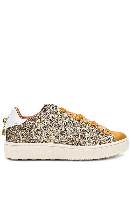 Coach 1941 C121 Low Top Sneaker in Metallic Gold