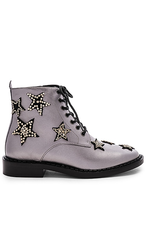 Coach Watts Lace Up Boot in Gunmetal
