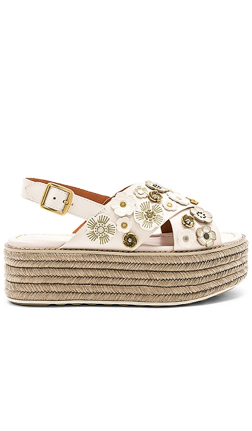 Coach 1941 Tea Rose Espadrille Sandal in Ivory