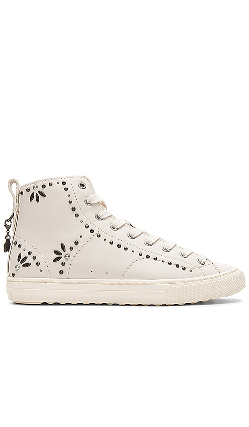Coach 1941 C216 Prairie Rivets Sneaker in Cream