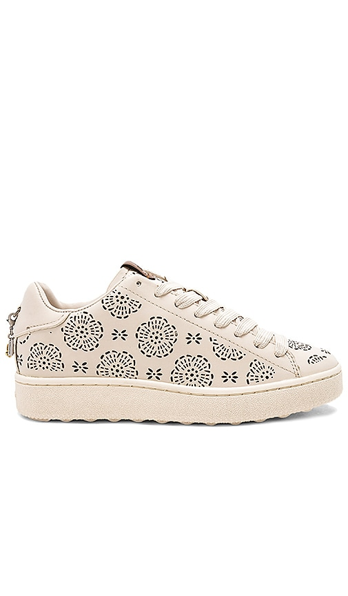 Coach 1941 Tea Rose Cut-Out Sneaker in Ivory