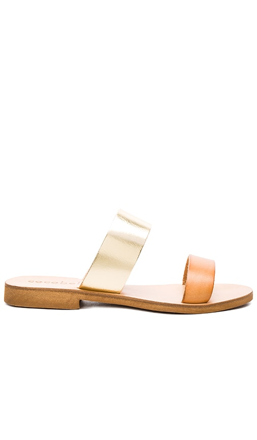 cocobelle Leather Slide Sandal in Natural