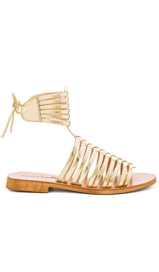 cocobelle Ibiza Sandal in Metallic Gold