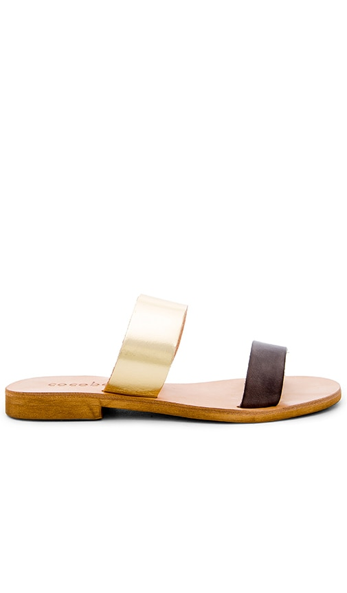 cocobelle Leather Slide Sandal in Smoke
