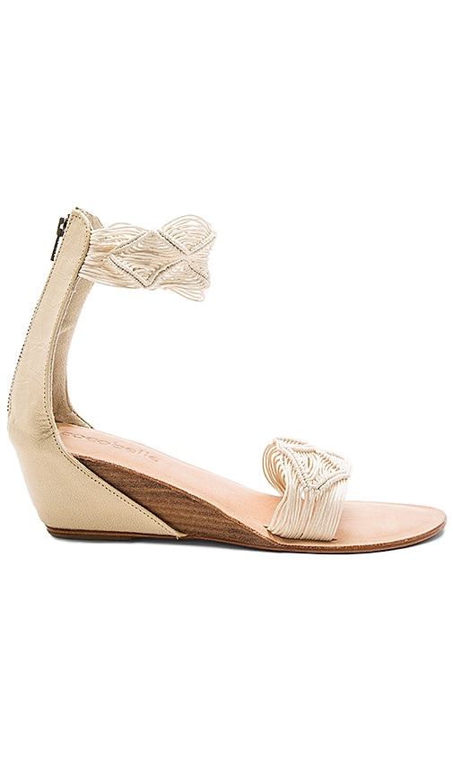 cocobelle Lilly Wedge in Ivory