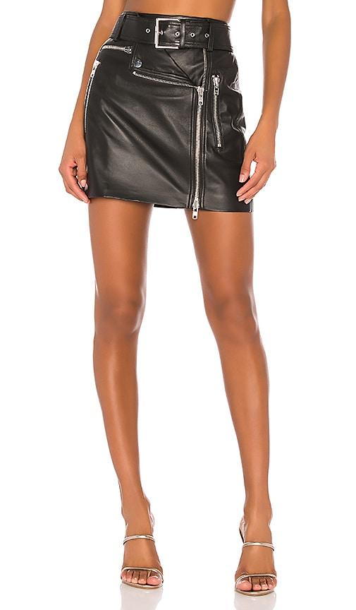 Sawyer Leather Moto Skirt