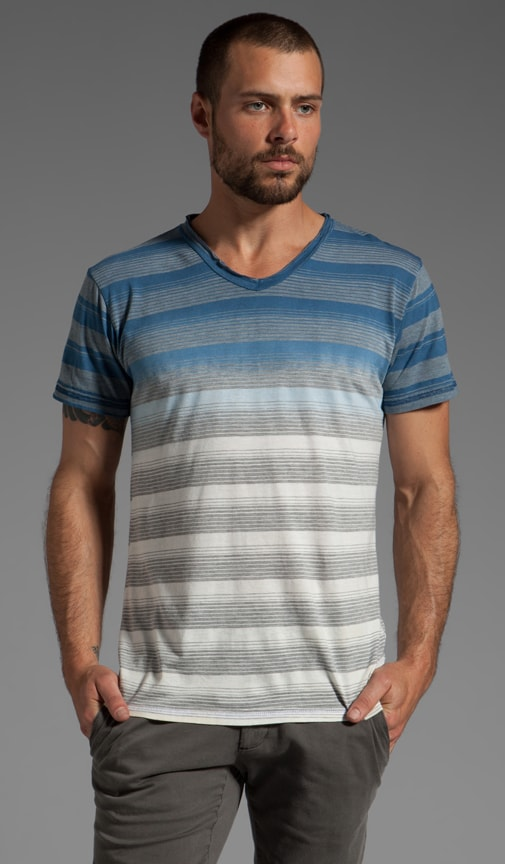 Labrea S/S V-Neck Striped Tee