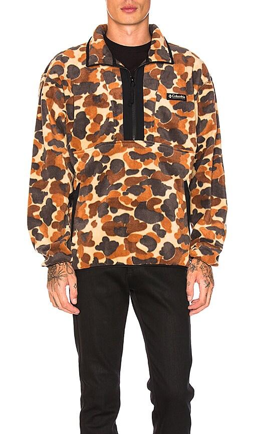 Columbia Pacific Northwest CSC Originals Printed Fleece Jacket in Brown