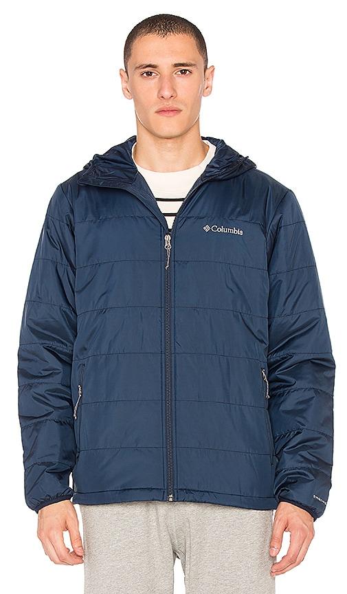 Columbia Saddle Chutes Hooded Jacket in Navy
