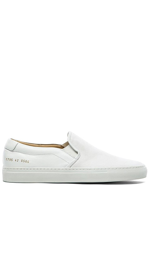 White slip on leather sneakers Common Projects OoWzy4TJK