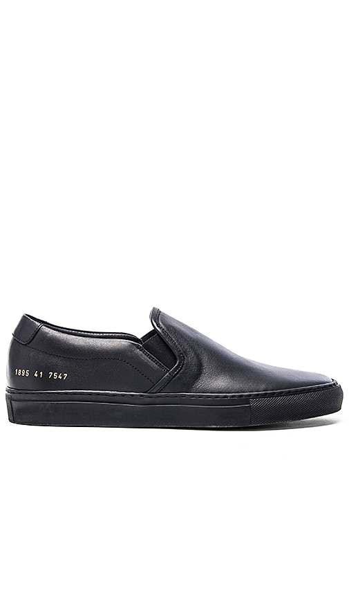 Common Projects Slip On Leather in Black