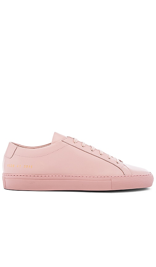 Woman by Common Projects Pink & White Suede Original Achilles Low Sneakers 0czJb