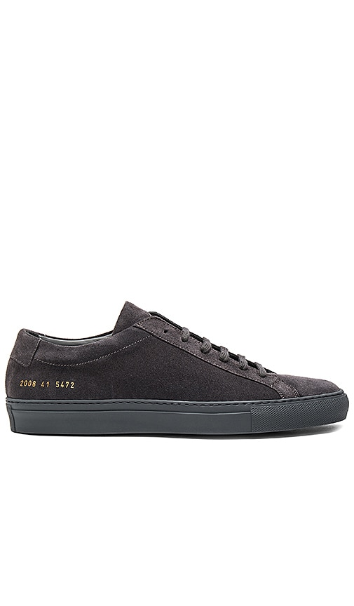 discount big discount outlet websites Common Projects grey Achilles suede sneakers the cheapest online low shipping for sale shopping online cheap price RJbk3hPha